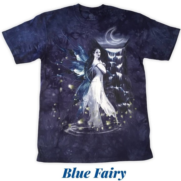 Blue Fairy Women's Fantasy T-Shirt The Mountain
